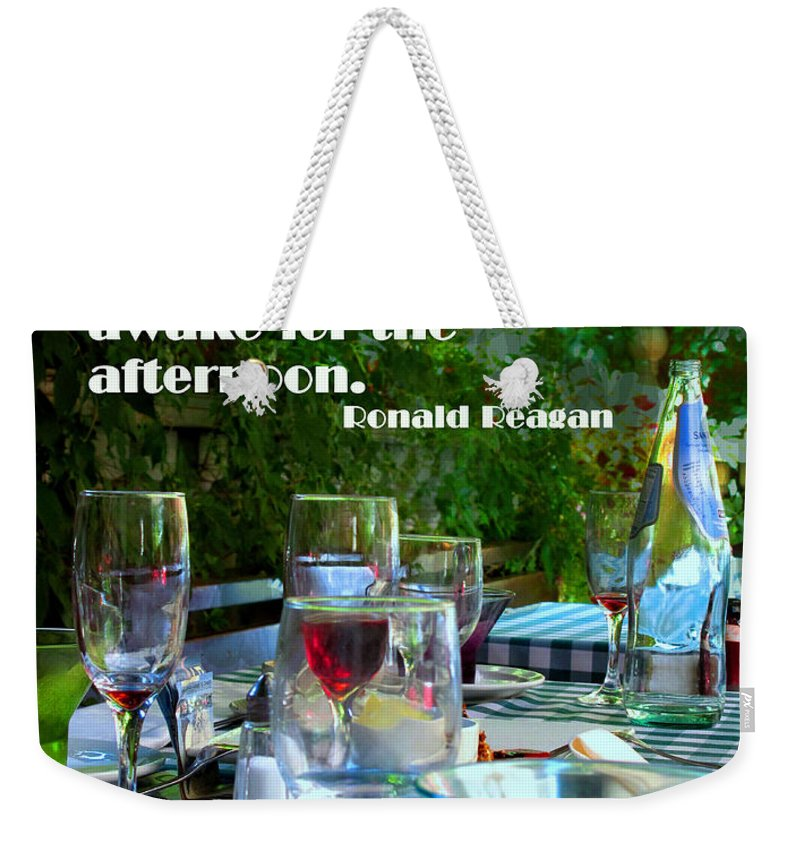 Coffee Weekender Tote Bag featuring the photograph No Coffee by Ian MacDonald