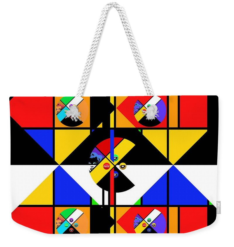 Andy Warhol Weekender Tote Bag featuring the digital art No Go The Merry Go Round by Charles Stuart