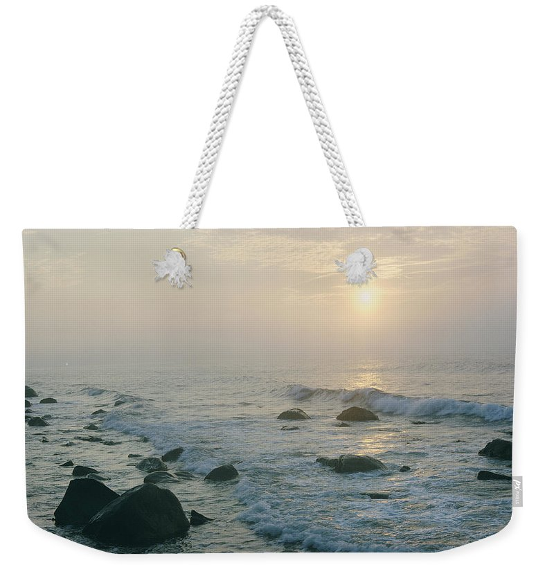 new York Weekender Tote Bag featuring the photograph No Information In Captions. This by B. Anthony Stewart