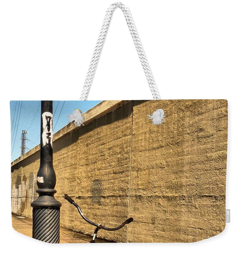 Bike Weekender Tote Bag featuring the photograph No Parking Zone by Anthony Walker Sr
