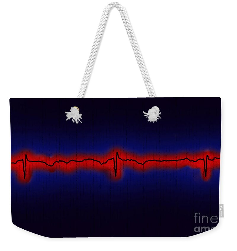 Ecg Weekender Tote Bag featuring the photograph Normal Ecg by Science Source
