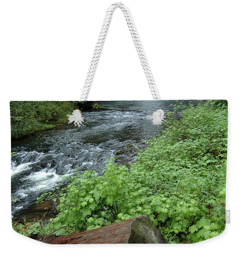 North Falls Weekender Tote Bag featuring the photograph North Falls In Oregon by Mike Nellums