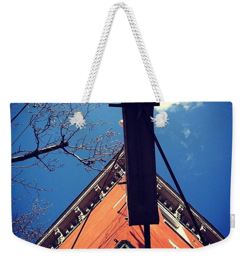 Up Weekender Tote Bag featuring the photograph North Star Bar In Philadelphia by Katie Cupcakes