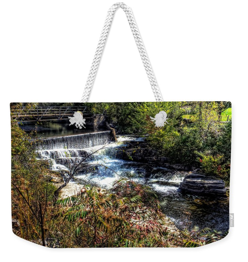 Xdop Weekender Tote Bag featuring the photograph Not Buttermilk Falls by John Herzog