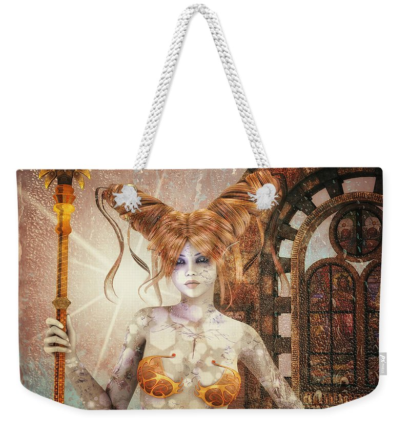 3d Weekender Tote Bag featuring the digital art Not Of This World by Jutta Maria Pusl