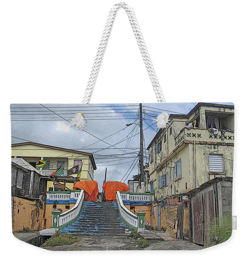 St Kitts Weekender Tote Bag featuring the photograph Not The Spanish Steps by Ian MacDonald