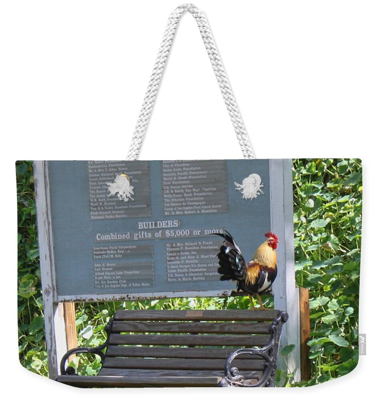 Rooster Weekender Tote Bag featuring the photograph Nothing To Crow About by Tommy Anderson