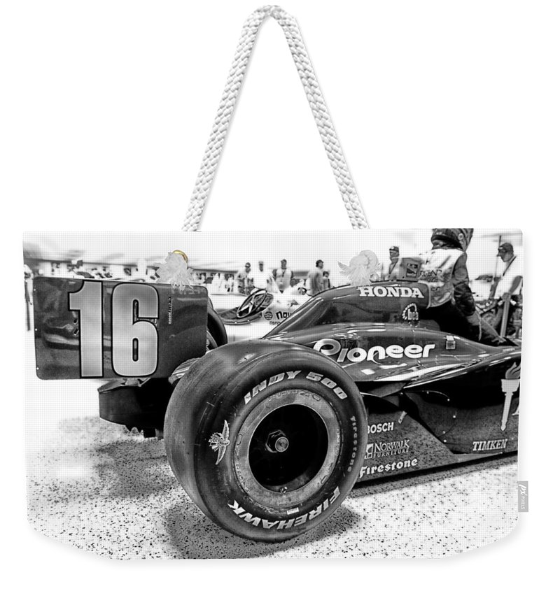 Indy Weekender Tote Bag featuring the photograph Number 16 Indy by Lauri Novak