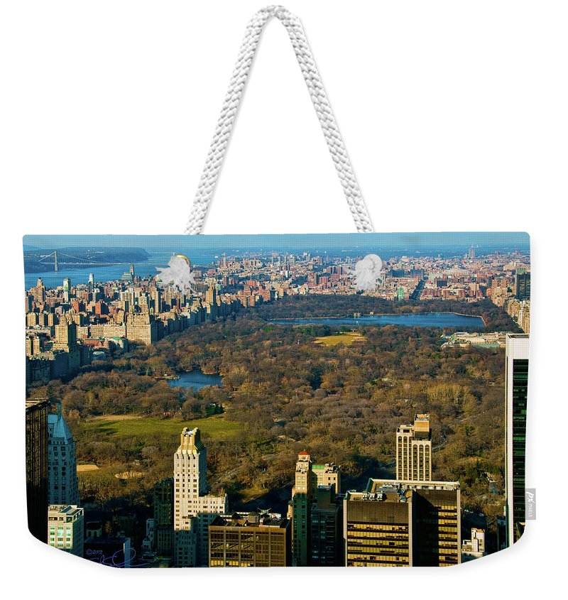 Central Park Weekender Tote Bag featuring the photograph Nyc's Uber Park by S Paul Sahm