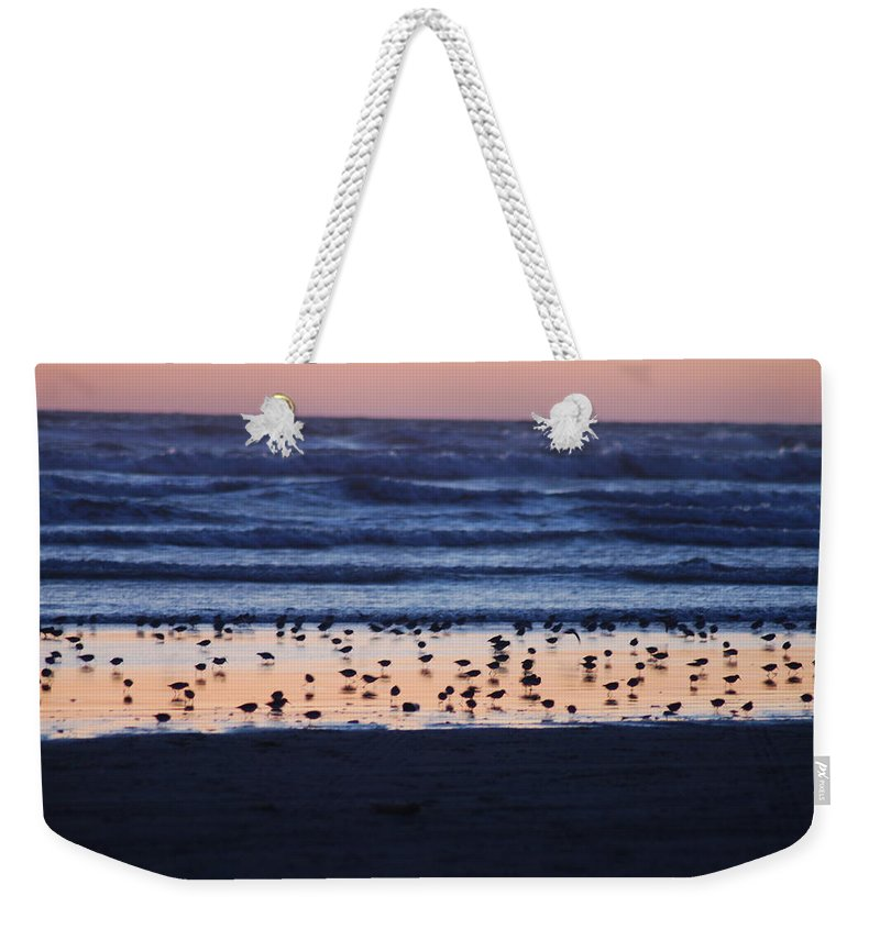 Sunset Weekender Tote Bag featuring the photograph Ocean Sunset by Michael Merry