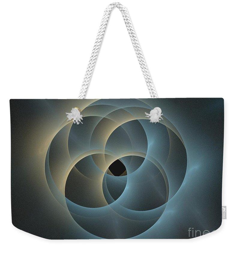 Apophysis Weekender Tote Bag featuring the digital art Oceanus by Kim Sy Ok