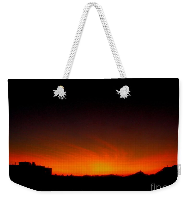 Sunset Weekender Tote Bag featuring the photograph October 12 2008 by Mark Gilman