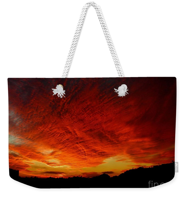 Weekender Tote Bag featuring the photograph October 12 2010 by Mark Gilman