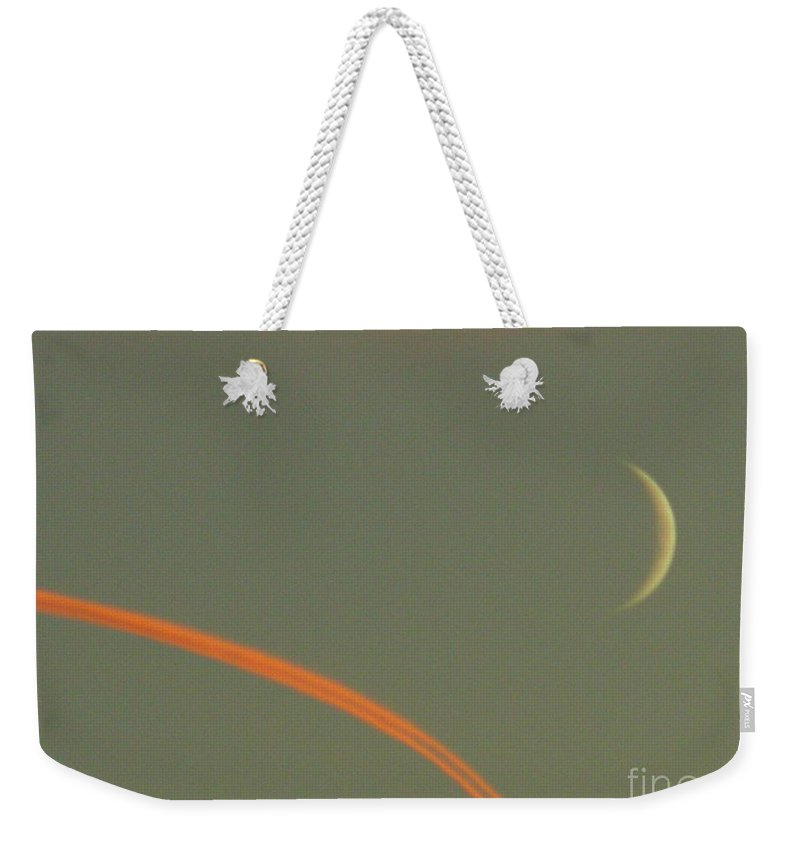 Moon Weekender Tote Bag featuring the photograph October 14 2007 by Mark Gilman
