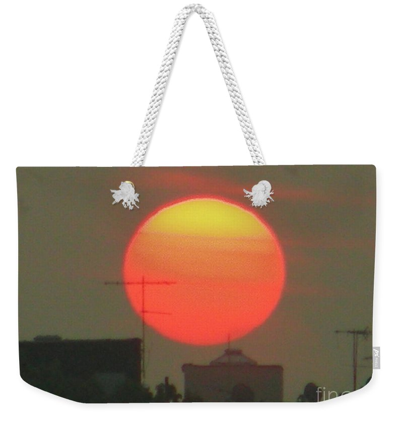 Sunset Weekender Tote Bag featuring the photograph October 17 2007 by Mark Gilman