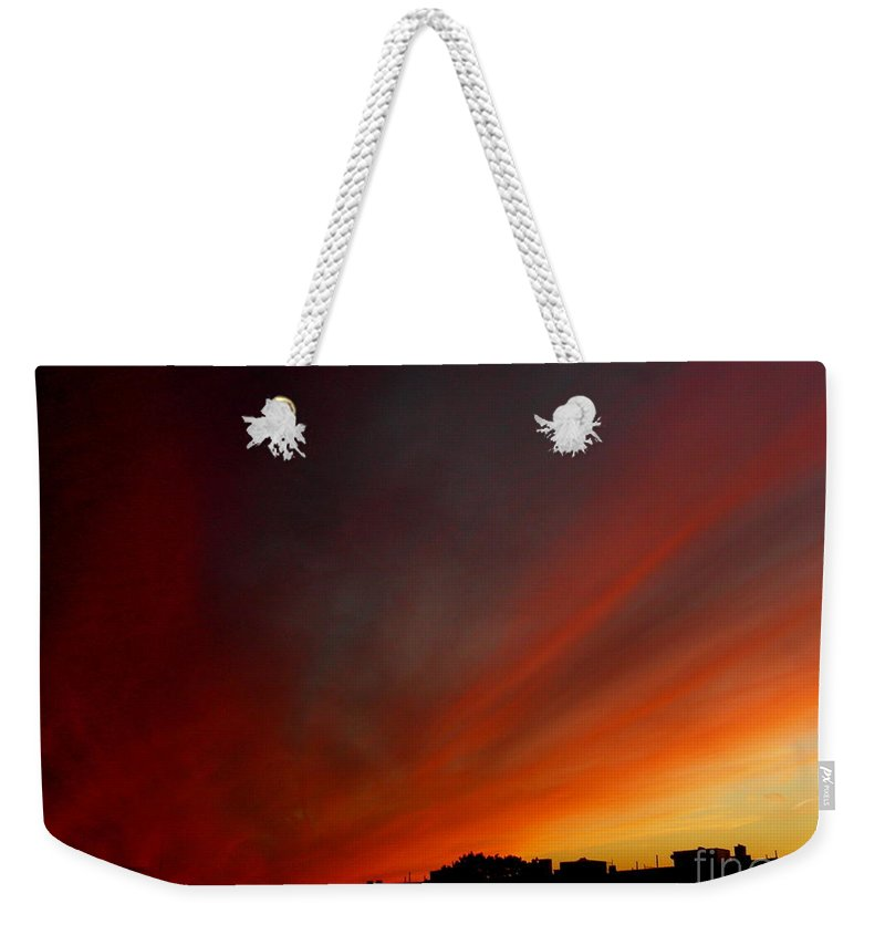 Sunset Weekender Tote Bag featuring the photograph October 20 2010 by Mark Gilman