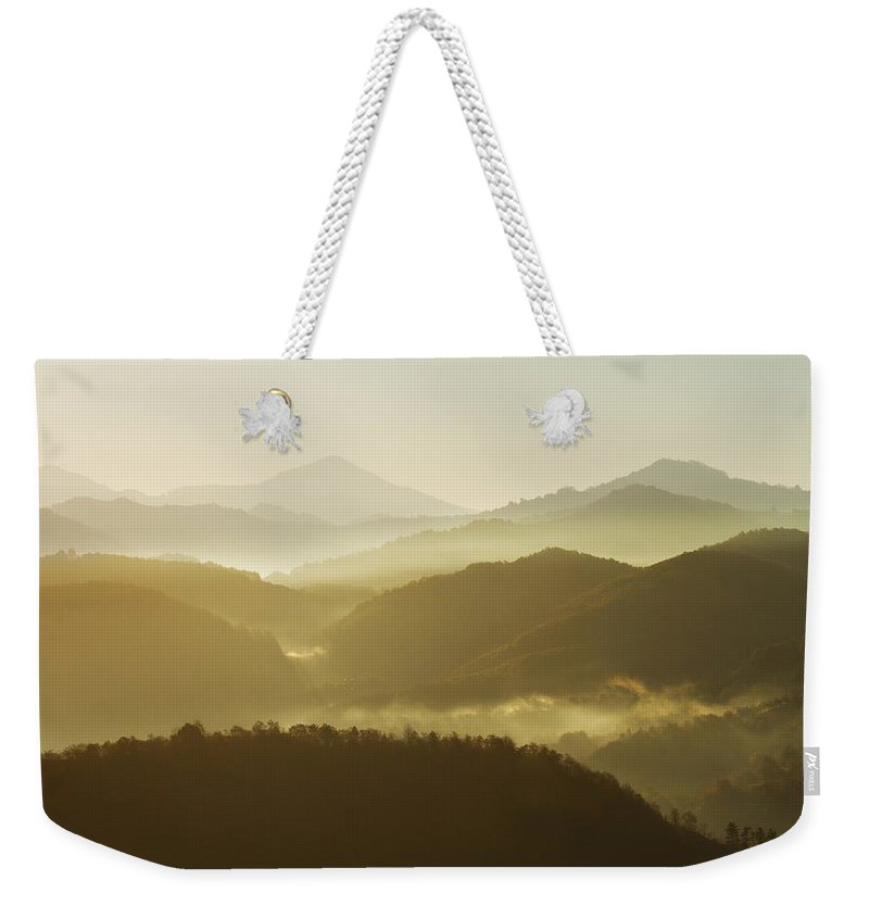 Transylvania Weekender Tote Bag featuring the photograph October Morning by Mircea Costina Photography