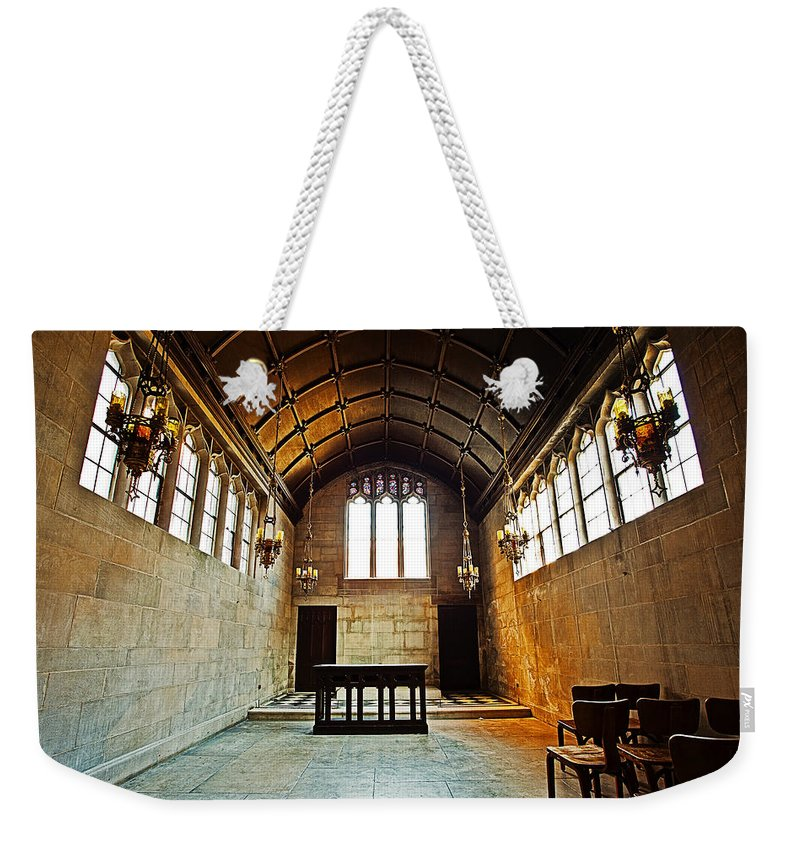 Chicago Weekender Tote Bag featuring the photograph Of Stone And Wood by CJ Schmit