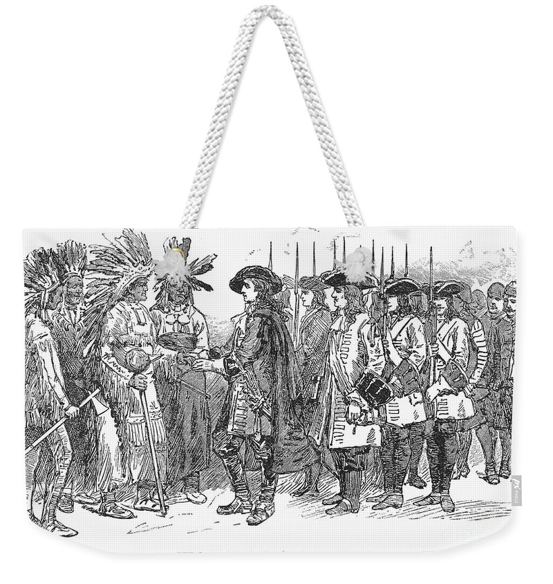 1733 Weekender Tote Bag featuring the photograph Oglethorpe At Savannah by Granger