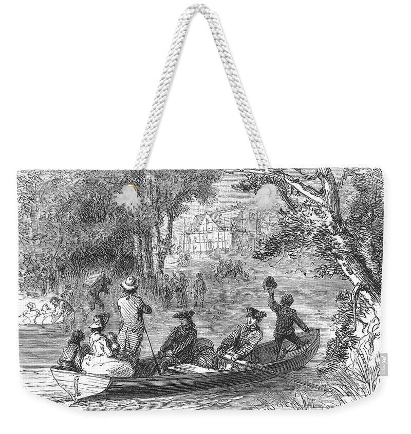 1790s Weekender Tote Bag featuring the photograph Ohio River: Emigrants by Granger