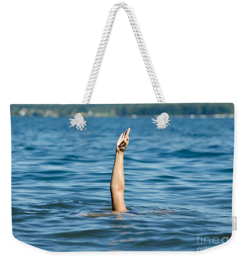 Arm Weekender Tote Bag featuring the photograph ok by Mats Silvan