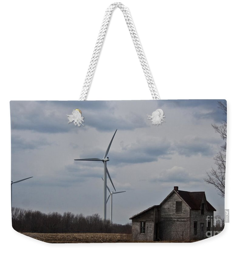 Old House Weekender Tote Bag featuring the photograph Old And New by Barbara McMahon