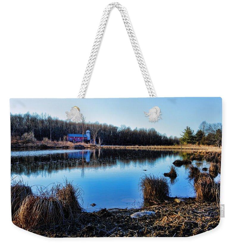 Walpack Weekender Tote Bag featuring the photograph Old Barn Walpack Nj by Rick Berk