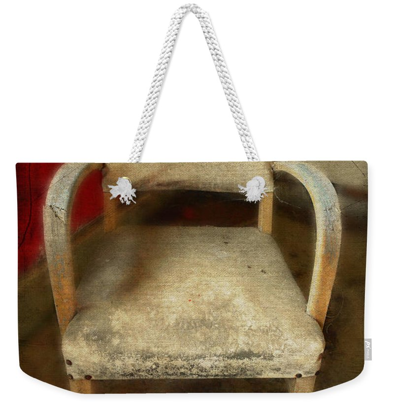Chair Weekender Tote Bag featuring the photograph Old Chair by Jill Battaglia