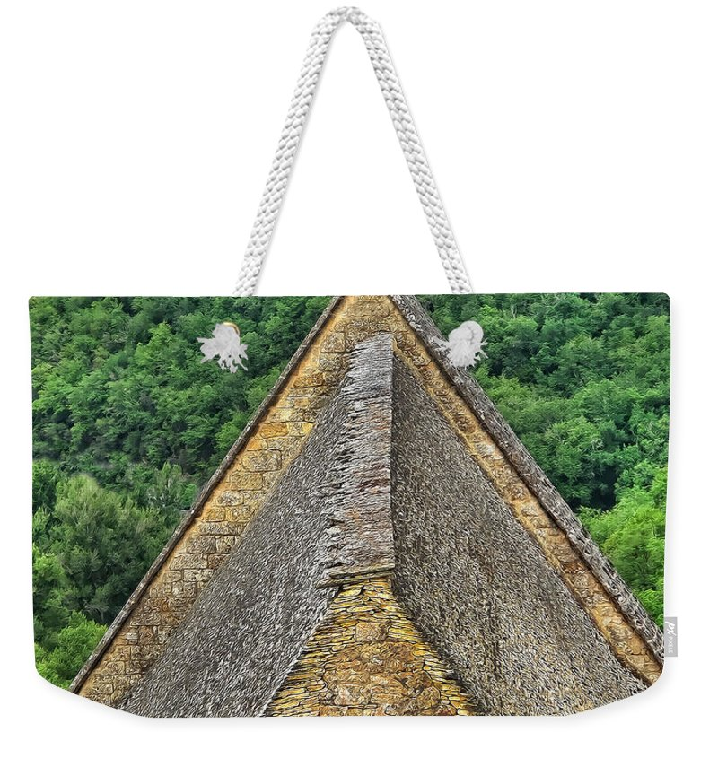 France Weekender Tote Bag featuring the photograph Old Church View Dordogne France by Dave Mills