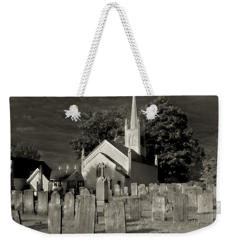 Church Weekender Tote Bag featuring the photograph Old Church Yard by Fran Gallogly
