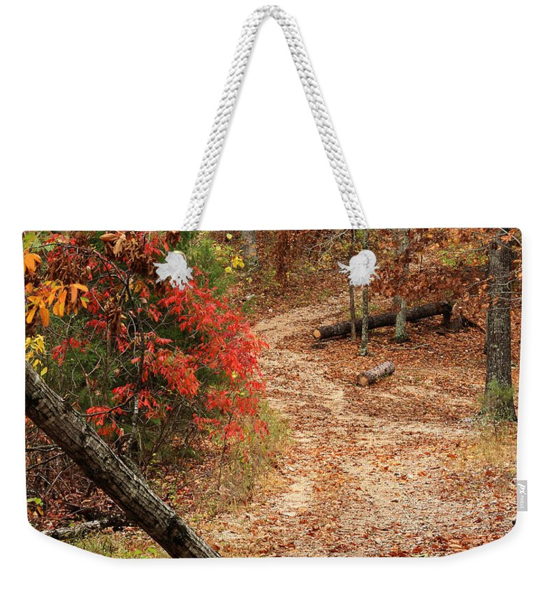 Old Country Road Weekender Tote Bag featuring the photograph Old Country Road In Shannon County by Greg Matchick