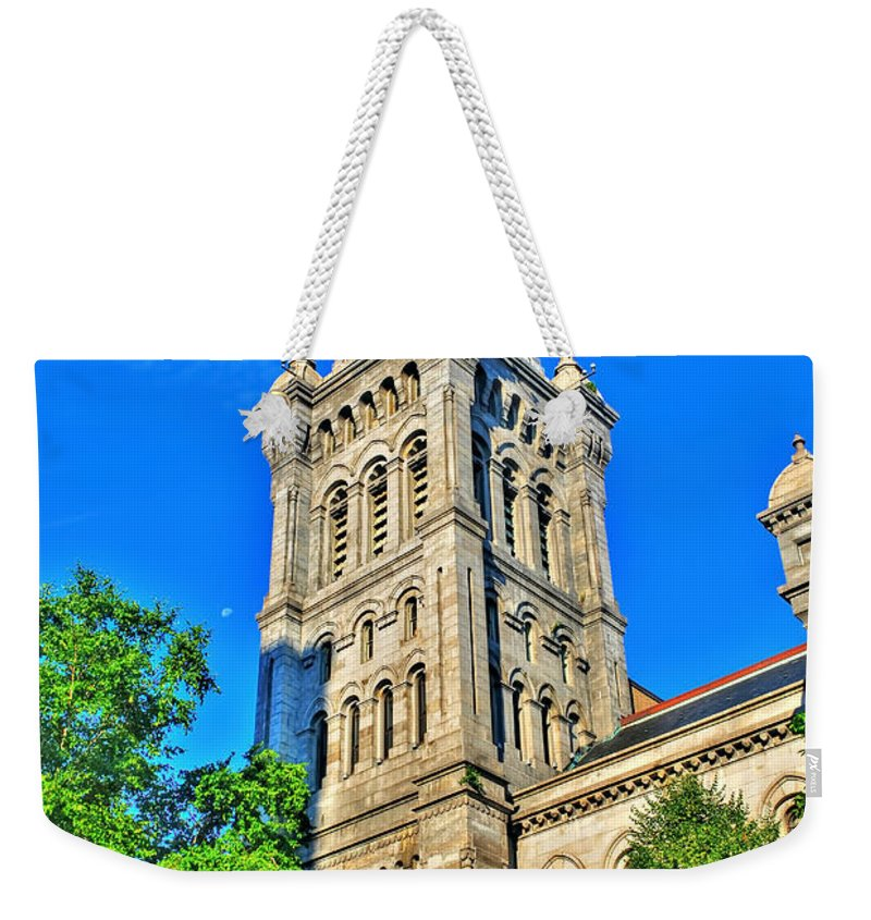 Weekender Tote Bag featuring the photograph Old Erie County Hall by Michael Frank Jr