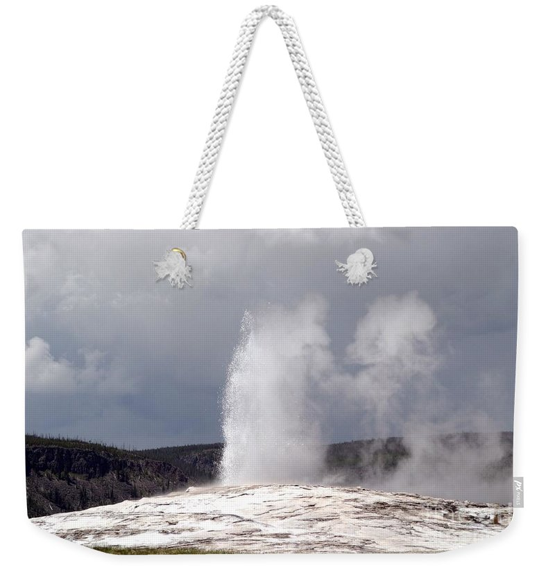 Old Faithful Weekender Tote Bag featuring the photograph Old Faithful by Living Color Photography Lorraine Lynch