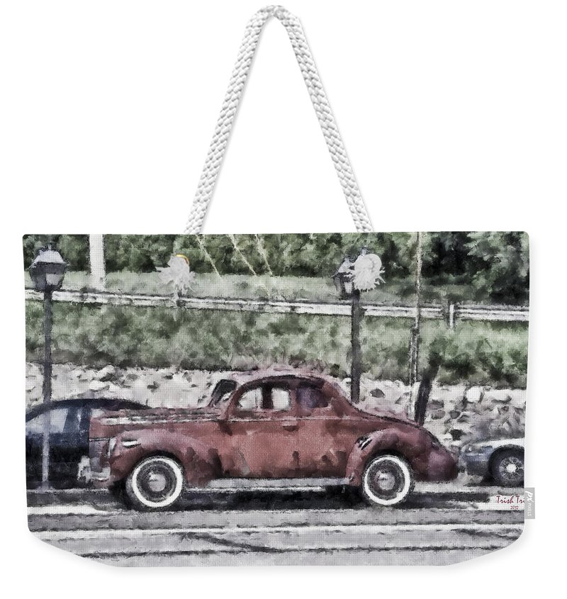 Car Weekender Tote Bag featuring the photograph Old Faithful by Trish Tritz