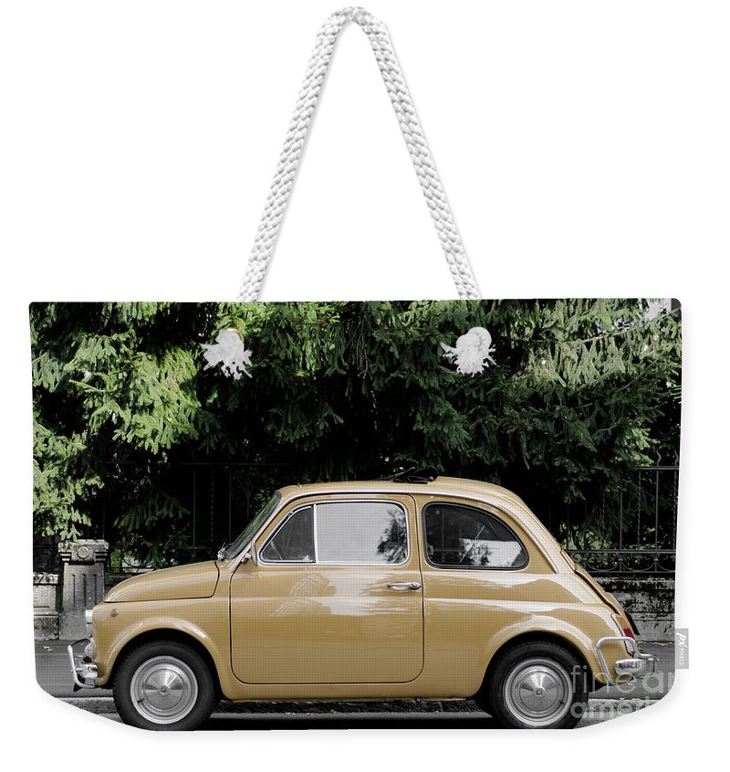Car Weekender Tote Bag featuring the photograph Old Fiat by Mats Silvan