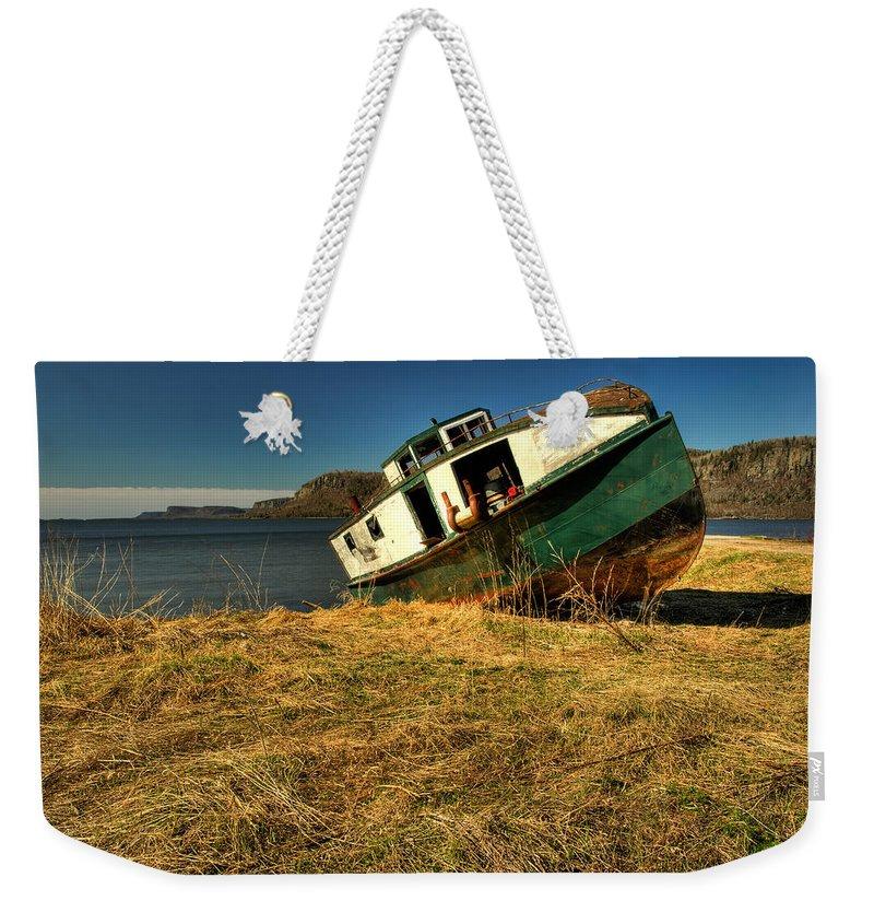 Fishing Boat Weekender Tote Bag featuring the photograph Old Fishing Boat by Jakub Sisak