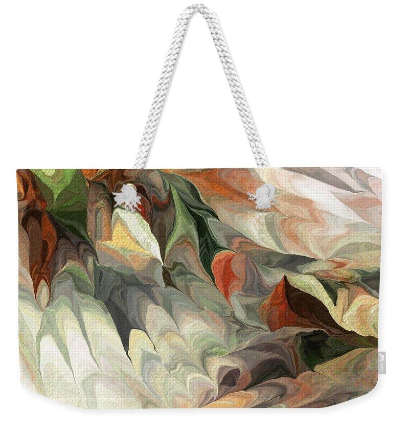 Fine Art Weekender Tote Bag featuring the digital art Old Flow by David Lane