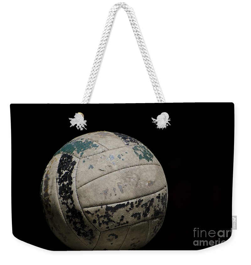 Football Weekender Tote Bag featuring the photograph Old Football by Mats Silvan