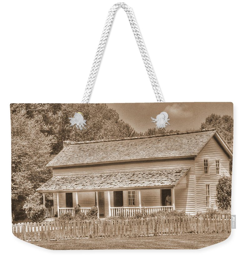 Old Homestead Weekender Tote Bag featuring the photograph Old House In The Cove by Barry Jones