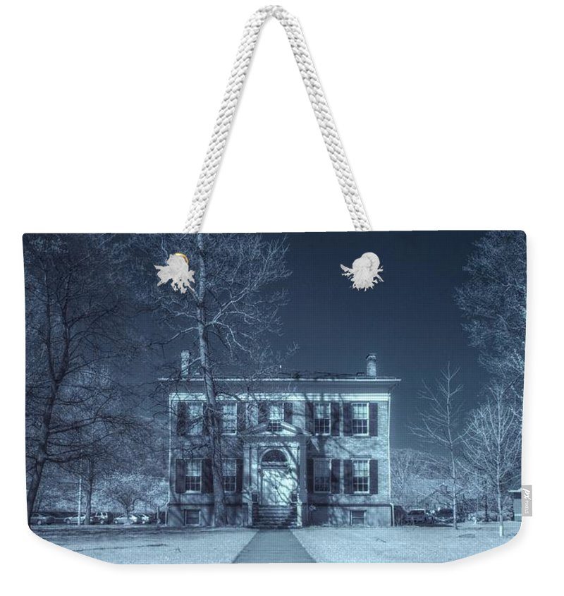 Old House Weekender Tote Bag featuring the photograph Old House Infrared by Joshua House
