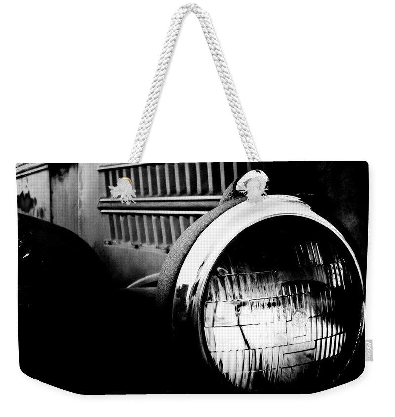 Old Car Weekender Tote Bag featuring the photograph Old Mack by Kevyn Bashore
