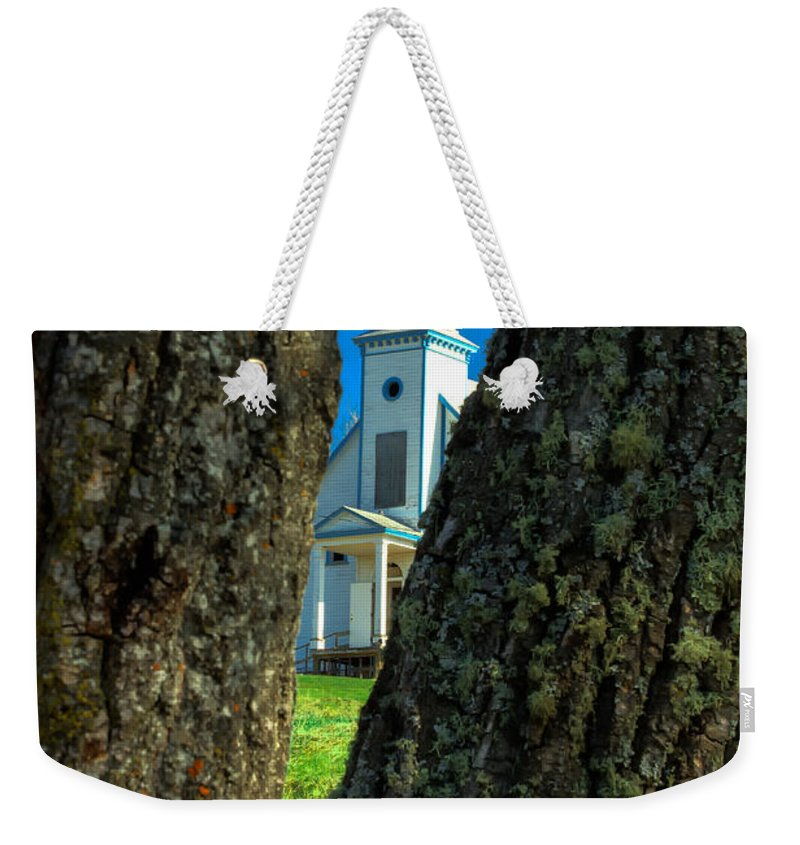 Old Reserve Church Weekender Tote Bag featuring the photograph Old Reserve Church by Jakub Sisak