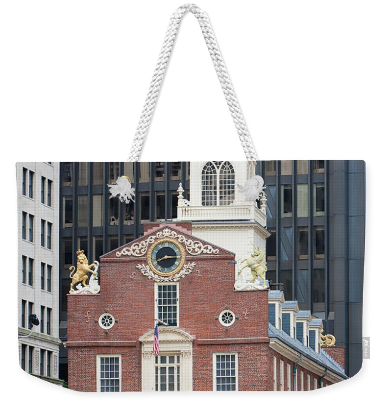 Clarence Holmes Weekender Tote Bag featuring the photograph Old State House II by Clarence Holmes