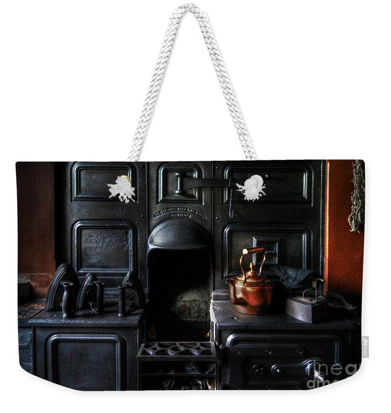 Kitchen Weekender Tote Bag featuring the photograph Old Stove by Yhun Suarez