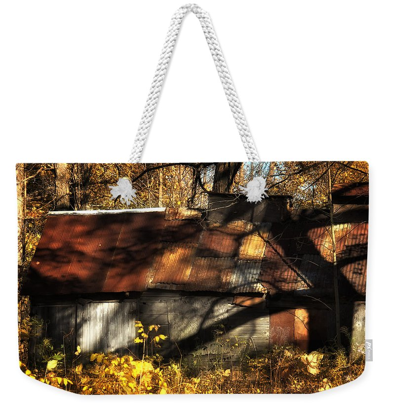 Xdop Weekender Tote Bag featuring the photograph Old Sugar Shack by John Herzog