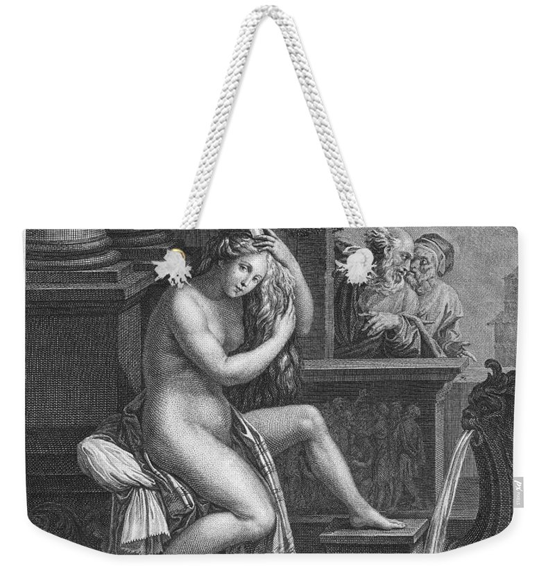 18th Century Weekender Tote Bag featuring the photograph Old Testament: Shoshanna by Granger