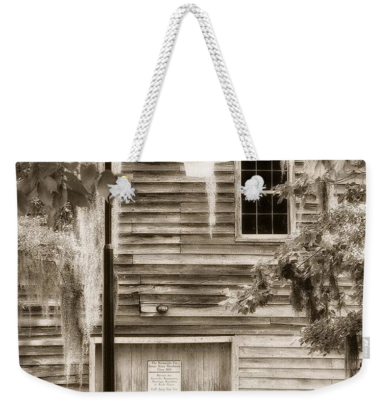 Weekender Tote Bag featuring the photograph Old Times by Michele Nelson
