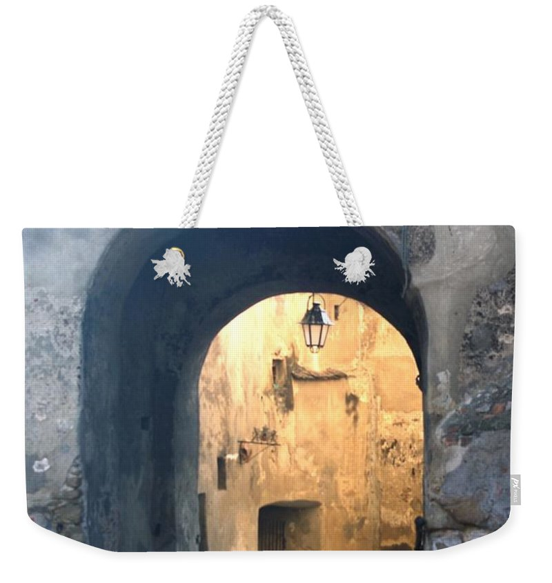 Sighisoara Weekender Tote Bag featuring the photograph Old town gate 1 by Amalia Suruceanu