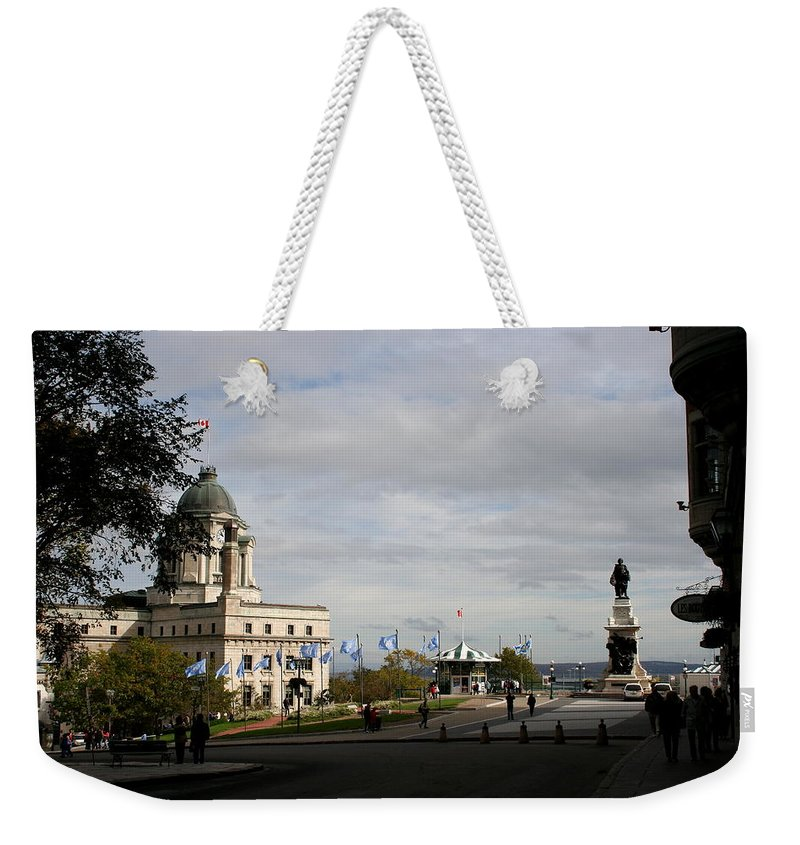 Old Town Weekender Tote Bag featuring the photograph Old Town Quebec by Christiane Schulze Art And Photography