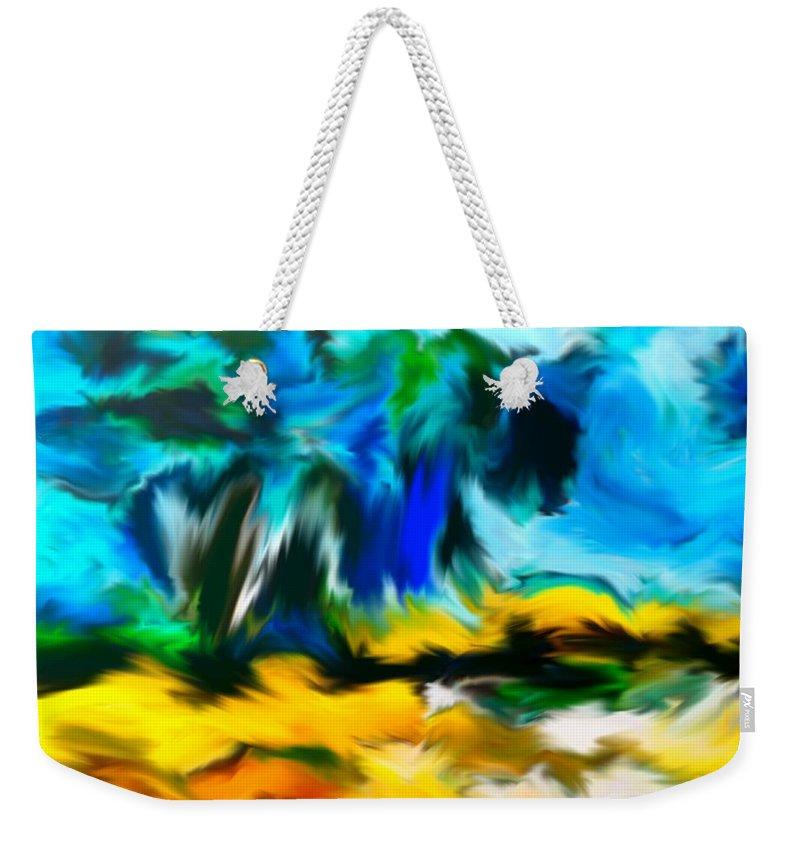 Fortuna's Digital Art Weekender Tote Bag featuring the digital art Olive Trees In The Manner Of Van Gogh by Dragica Micki Fortuna